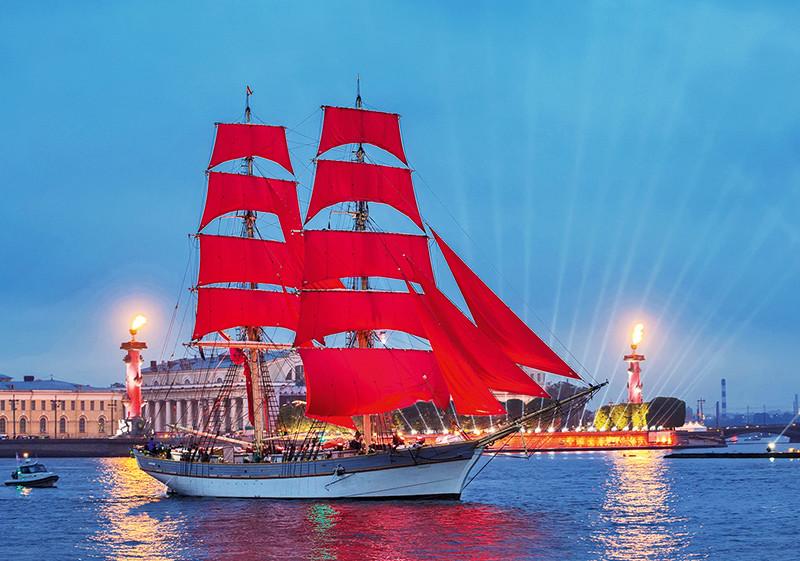 Fest der Roten Segel St. Petersburg Russland, studienreise st petersburg