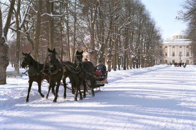 Winterliche Kutschfahrt, St. Petersburg