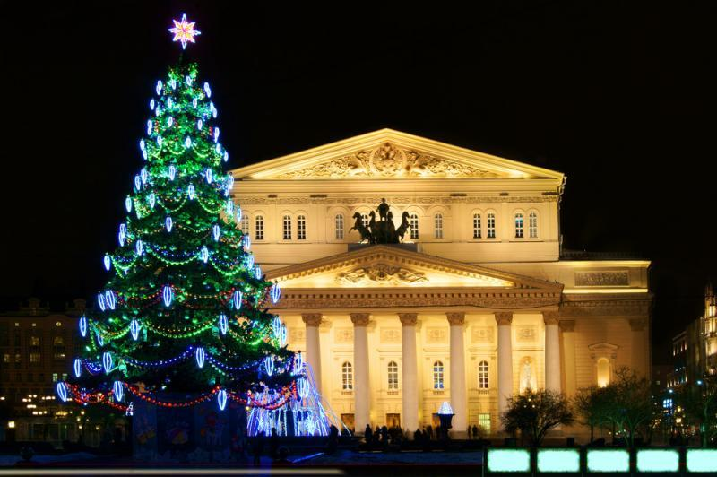 Bolschoi Theater in Moskau Silvester