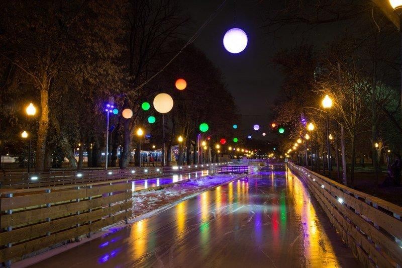 Eislaufen im Gorki-Park, Moskau