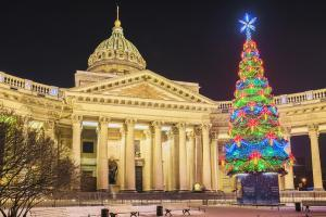 Kasaner Kathedrale zu Silvester in St. Petersburg