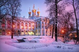 Katharinenpalast zu Silvester/Winter in St. Petersburg