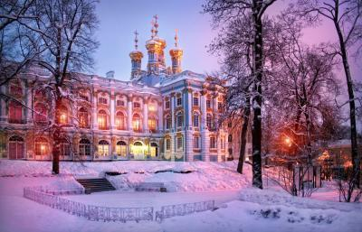 Katharinenpalast zu Silvester/Winter in St. Petersburg