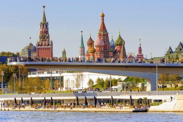 Moskau Basilius-Kathedrale Sarjadje-Park