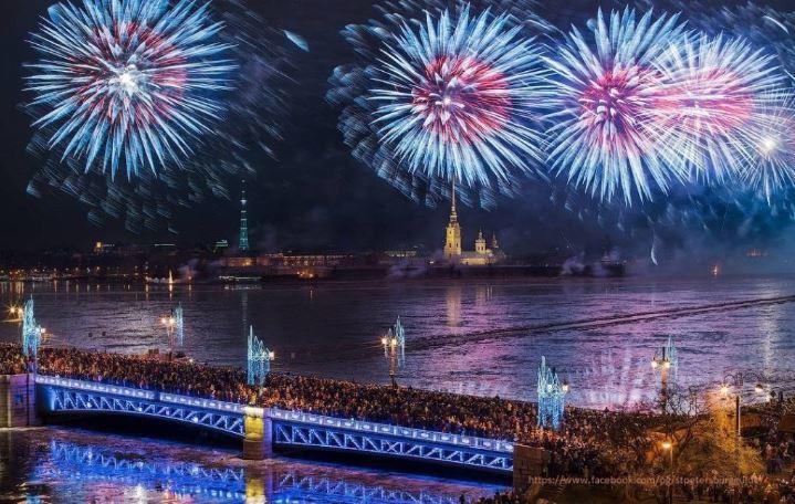 St. Petersburg Russland Silvester