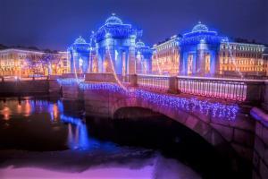 Lomonossow Brücke St.Petersburg Russland Reiseveranstalter