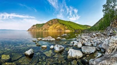 Baikalsee Sibirien, Transsibirische Eisenbahn