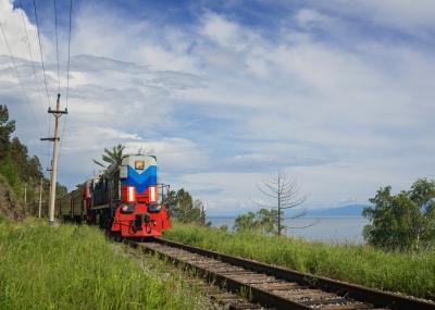 Transsibirische Eisenbahn Zug baikalsee