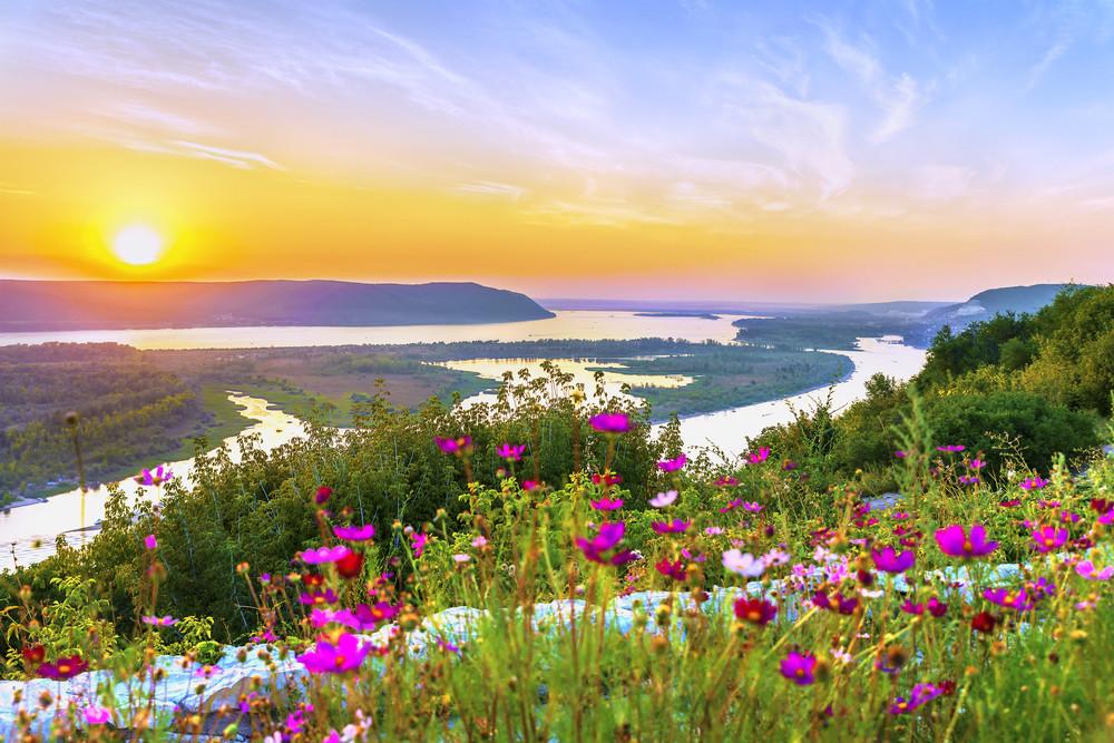 Fluss Wolga in Russland