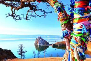 Insel Olchon Baikalsee Sibirien
