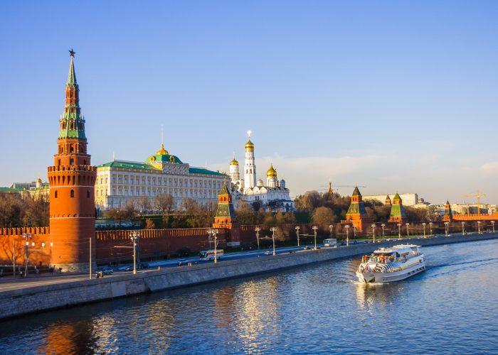 Moskauer Kreml mit Fluss