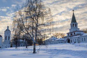 Kolomenskoje im Winter/Silvester in Moskau