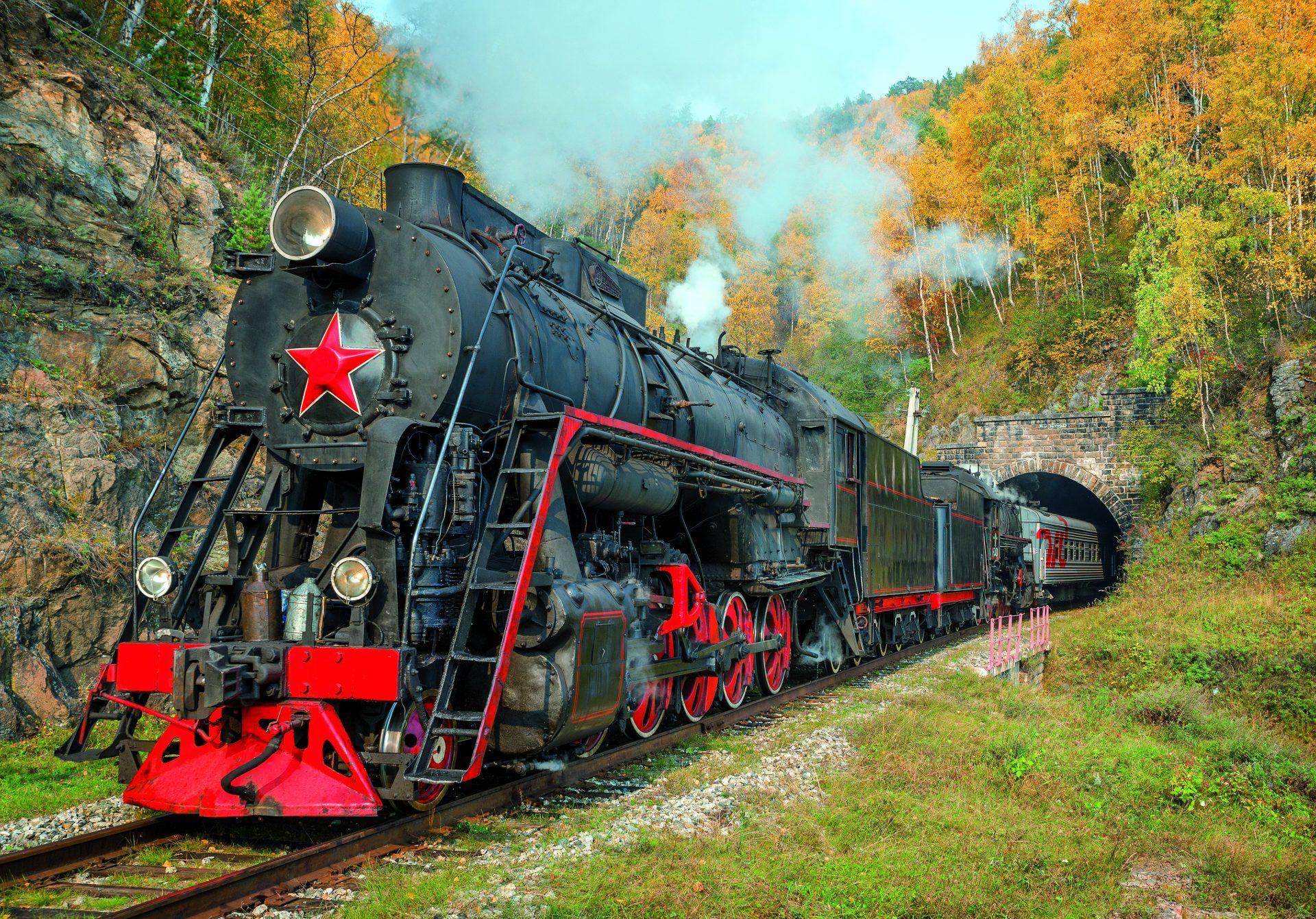 Lok der Transsibirischen Eisenbahn