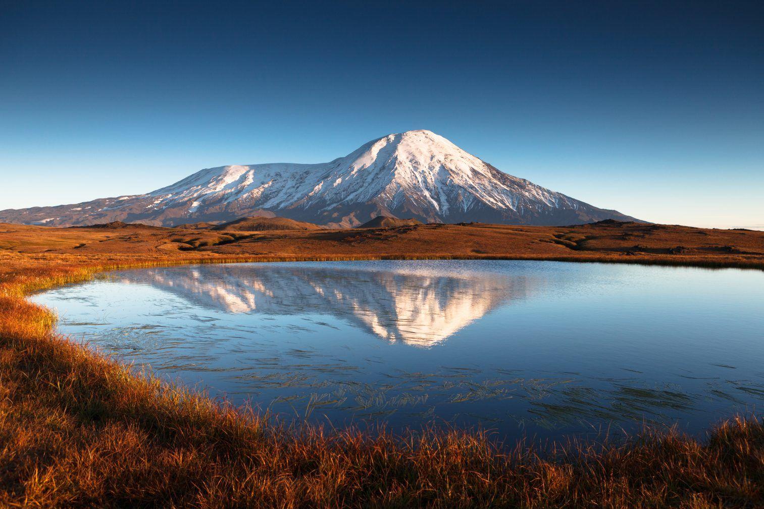 Kamtschatka Vulkan Panorama