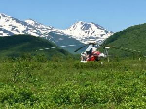Hubschrauber in Kamtschatka