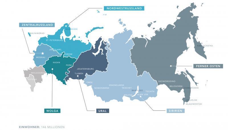 Landkarte von Russland
