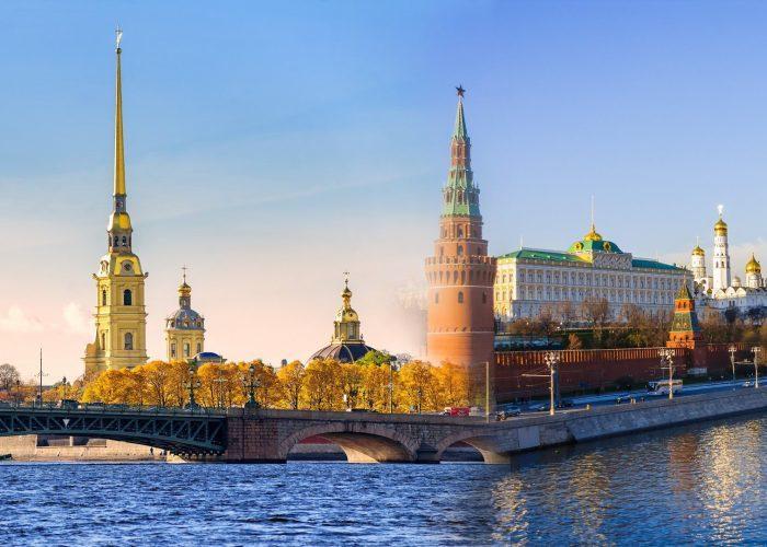 Peter-Paul-Festung und Moskauer Kreml im Doppelpack, kombireise moskau petersburg