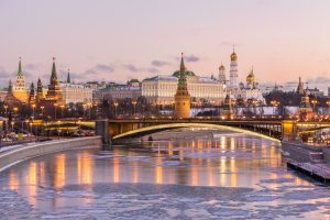 Silvesterpanorama im Winter - Moskauer Kreml