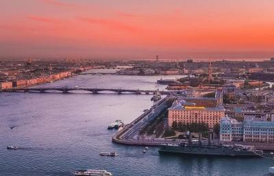 St. Petersburg Panorama Sonnenuntergang