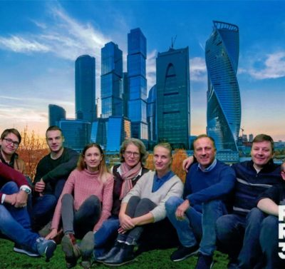Moskau City, Federation Tower mit AL.EX-Team