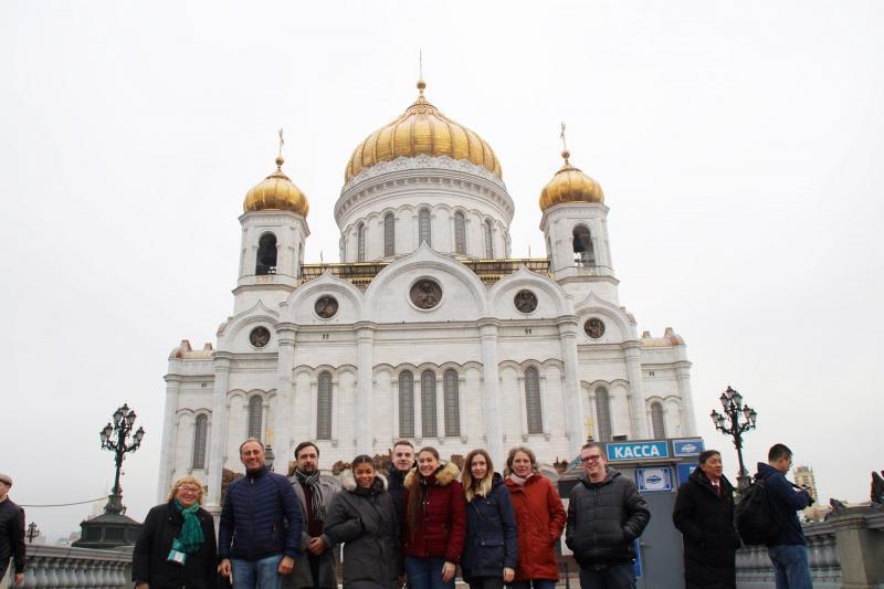 Christ-Erlöserkathedrale in Moskau mit AL.EX Team