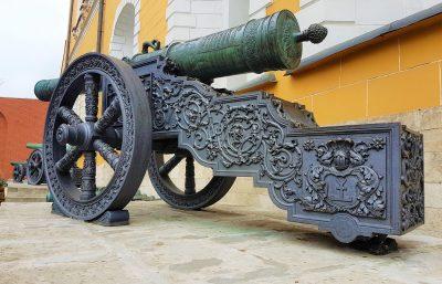 Napoleonische Kanonen im Moskauer Kreml