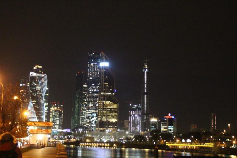 Moskau bei Nacht Panorama