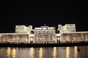 Außenministerium von Moskau bei Nacht