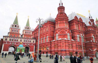 Staatliches Historisches Museum am Roten Platz in Moskau