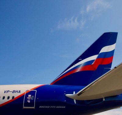 Aeroflot Flugzeugheck