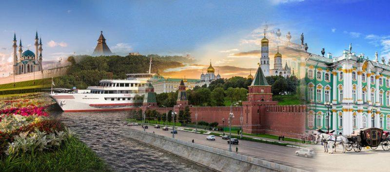 Russland-Reisen Reiseziele Collage