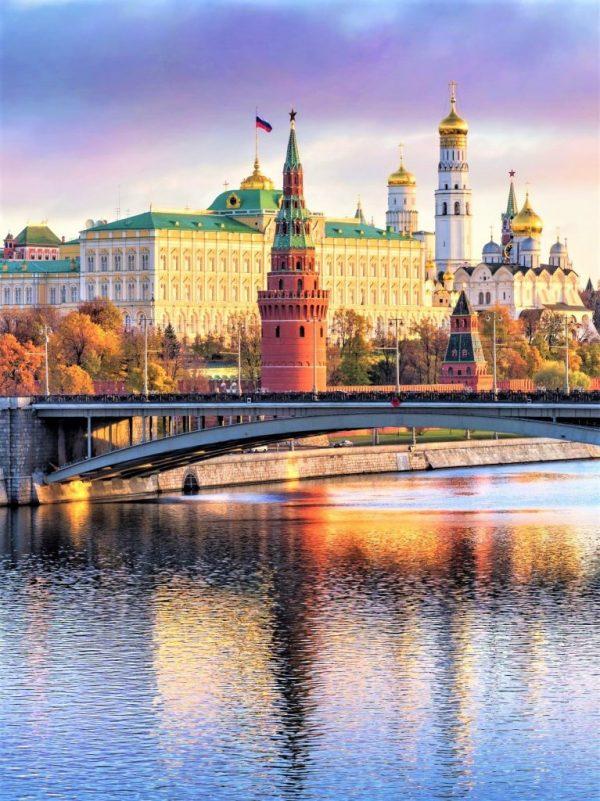 Moskauer Kreml an der Moskwa