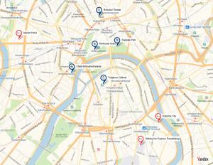 Stadtplan Moskau, Russland Reisen