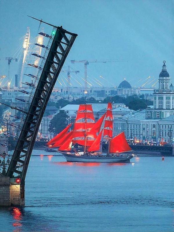 Rote Segel Sankt Petersburg Urlaub