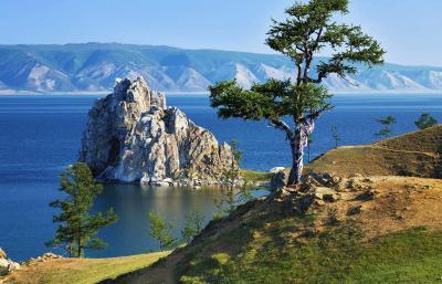 Schamanenfelsen Insel Olchon, Baikalsee