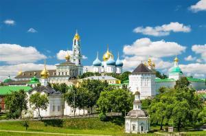 Das Dreifaltigkeitskloster in Sergijew-Possad