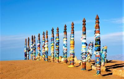 Insel Olchon - Wunschstelen, Baikalsee