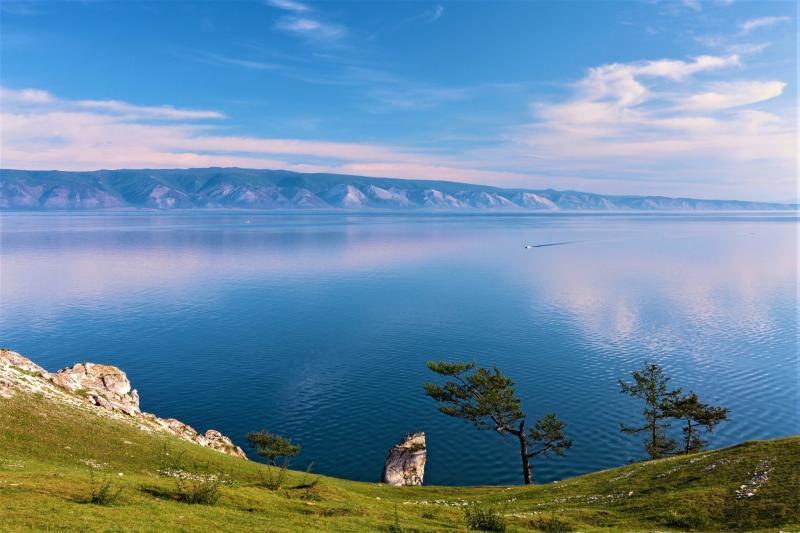 Insel Olchon am Baikalsee, Panorama
