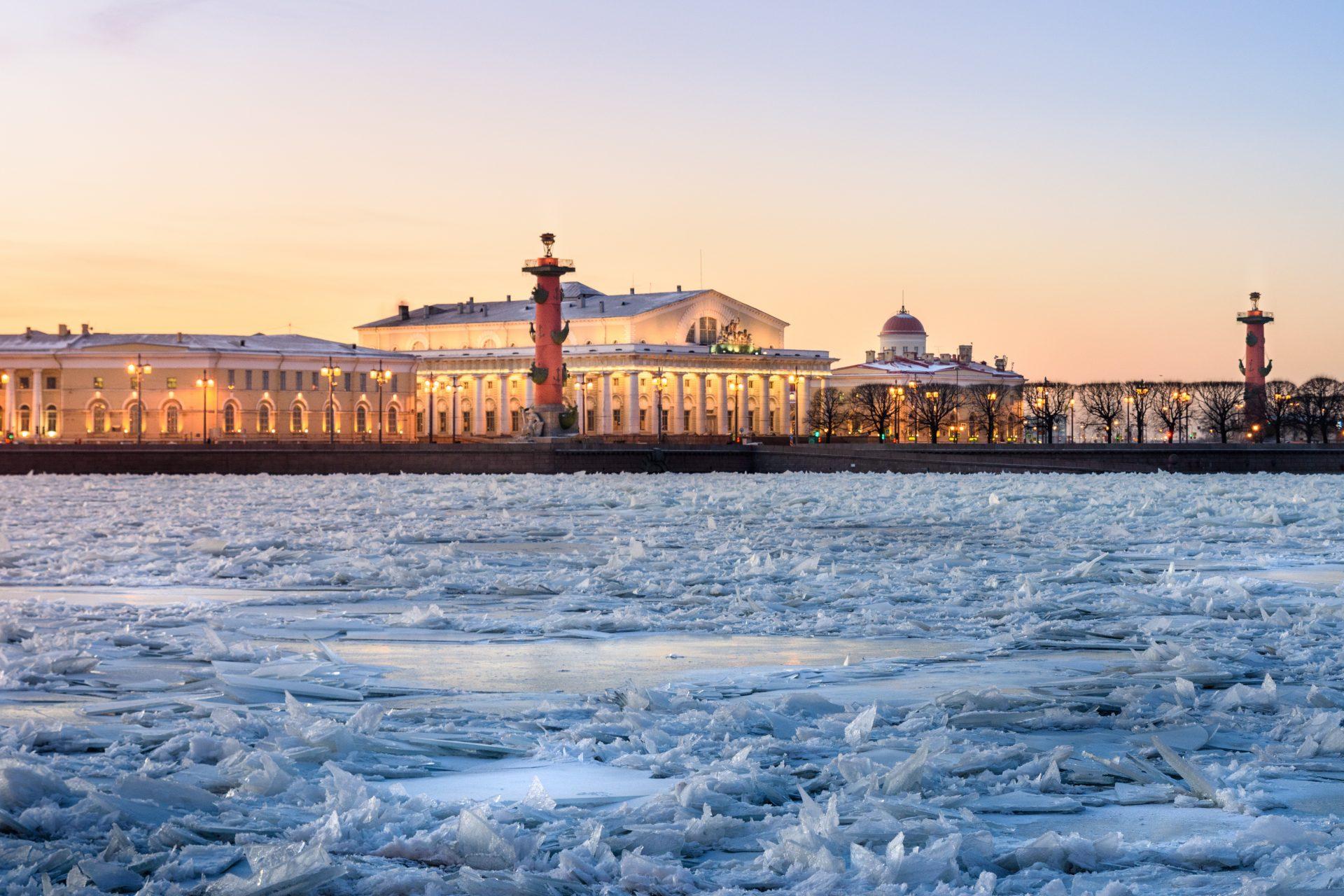 St. Petersburg Gefrorene Newa