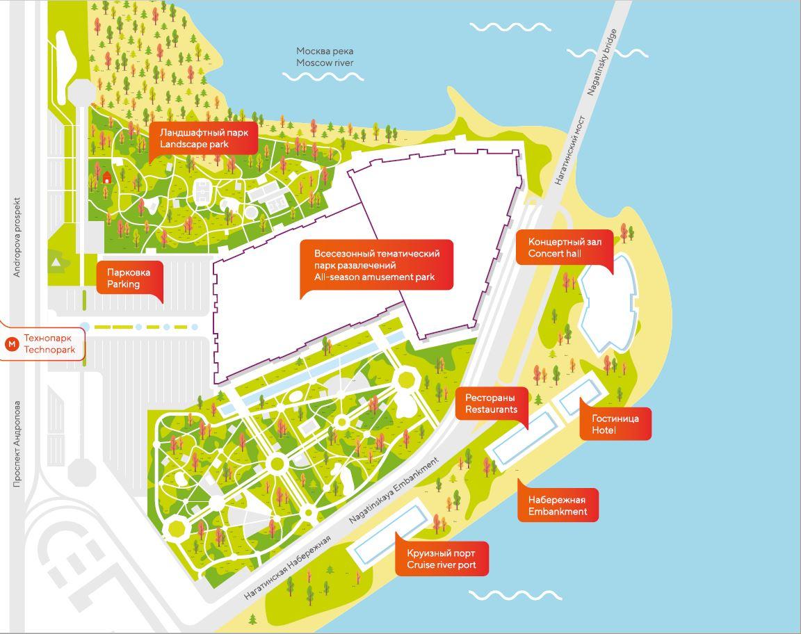 Landkarte Themenpark Dream Island Moskau