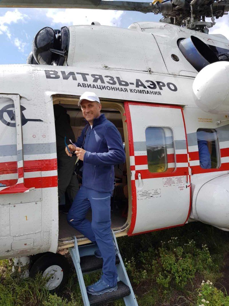 Alexander Kudriavtsev Helikopterflug Kamtschatka